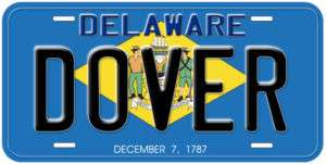 Delaware State Flag Personalized Car Auto License Plate