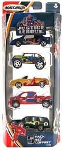 MATCHBOX JUSTICE LEAGUE 5 CAR SET SUPERMAN, FLASH, GREEN LANTERN