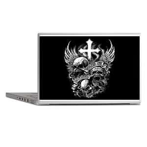 Laptop Notebook 13 Skin Cover God Is My Judge Skulls Cross and Angel
