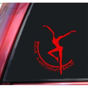 Dave Matthews Band Vinyl Decal Sticker   Red Automotive