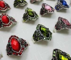 New listing wholesale jewelry lots 10pcs alloy & rhinestone Rings free