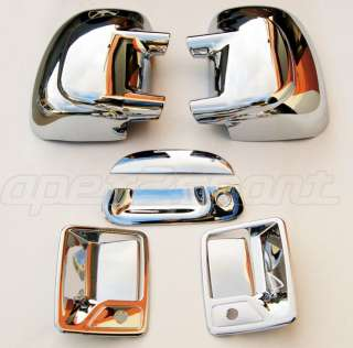 99 07 Ford F250 Chrome Door Handle Mirror Covers Set SD