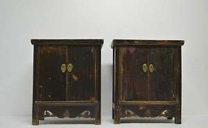 Pair Chinese Antique Small Wooden Side Table MAR18 03