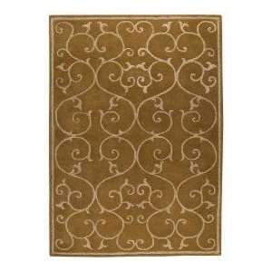 Rugs Wrought Iron Scroll 5 6 x 7 10 olive green Area Rug Home