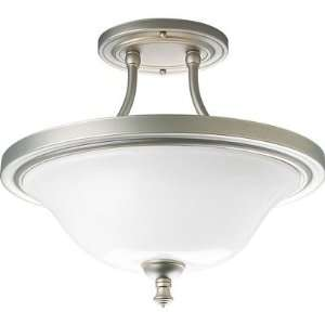 Victorian Pearl Nickel Semi Flush Mount