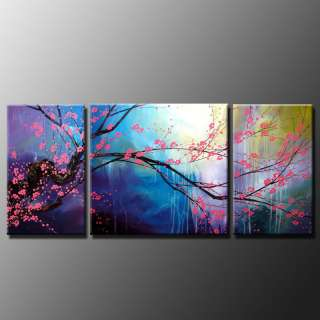 Modern Abstract Wall Art Cherry Blossom Oil Painting