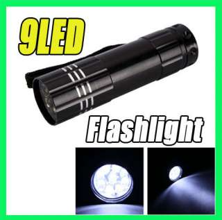 LOT 8 Super Bright MINI 9 LED Flashlight Lamp Torch Light Camping