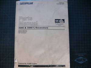 CAT Caterpillar 325C L Excavator Parts Manual Book shop