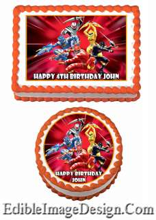POWER RANGERS Edible Party Birthday Cake Image Cupcake Topper Favors