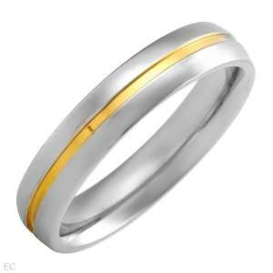 Mens Ring 14k Stainless Steel Gold Plated Clearance