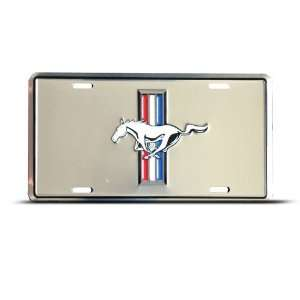 Mustang Metal Novelty Car Auto License Plate Wall Sign Tag