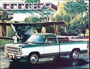 1979 Dodge Ram Pickup Truck Deluxe Sales Brochure