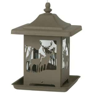 Homestead Ornamental Bronze Wilderness Bird Feeder
