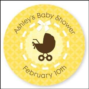 Baby Carriage   24 Round Personalized Baby Shower Sticker Labels Toys