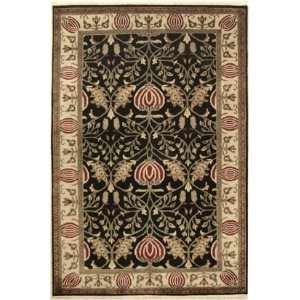 American Home Arts & Crafts 1 2 6 x 8 black Area Rug Home