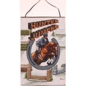 Hunter Jumper Equestrian Horse Rider Horseshoe Wall Hanging Tapestry