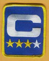 OFFICIAL 3 1/4 inch INDIANAPOLIS COLTS CAPTAINS C JERSEY PATCH Unused