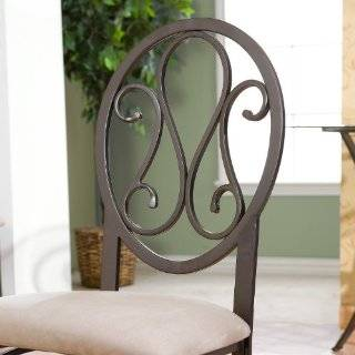 Alfresco Home Semplice Wrought Iron Bistro Chairs with
