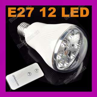 Rechargeable Emergency 12 LED Light Lamp Remote Control EP 201 E27