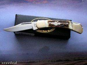 German Bull Knife Stag Handle Made in Germany
