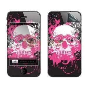 Touch Skin Pink Big Skull Image Cover Vinyl Decal for