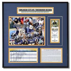 Tomlinson San Diego Chargers   2006 NFL Record Breaker   Ticket