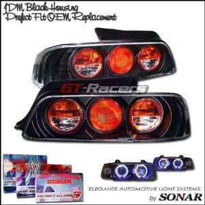 Honda Prelude Tail Lights Black Altezza Taillights 1997 1998 1999 2000