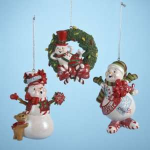 Club Pack of 12 Snow Dudes Red & Green From Santa Snowman Christmas