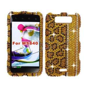 LG Connect 4G 4 G MS840 MS 840 Cell Phone Full Crystals Diamonds Bling