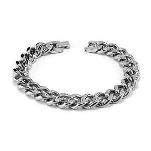 Stainless Steel Curb Link Chain Bracelet Jewelry