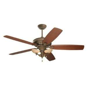 Carrera Grande Ceiling Fan in Gilded Bronze