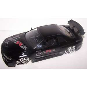 Scale Diecast Dub City Nissan Skyline Gt r R34 in Color Black Toys