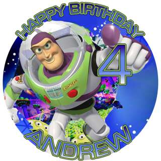 BUZZ Lightyear Round Edible CAKE Image Icing Topper
