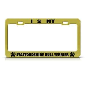 Staffordshire Bull Terrier Dog Metal license plate frame