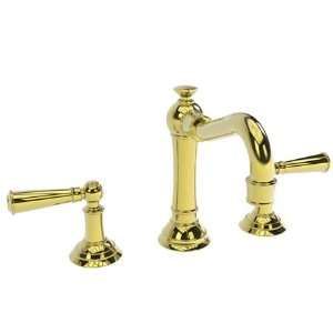 Gold (PVD) JACOBEAN Double Handle Widespread Bathroom Faucet with Met
