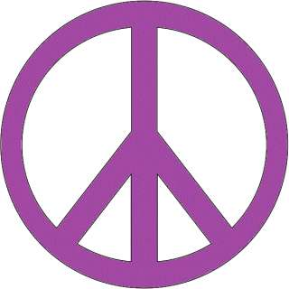 Large Peace Sign Hippie Decal Sticker car truck Purp 6