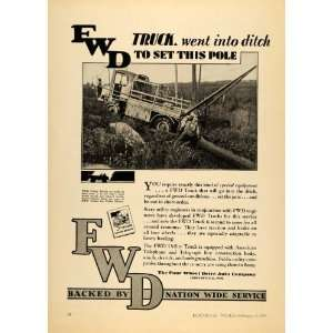 Ad Four Wheel Drive Auto Co. FWD Industrial Truck   Original Print Ad
