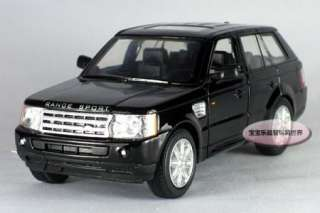 Landrover Range Rover Sport 138 Alloy Diecast Model Car Black B362