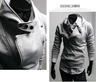 New fashion Mens Slim Fit Sexy Top Designed Hoody Coats Jackets 999