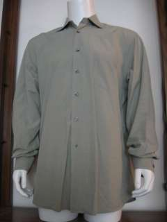 42 16 1/2 Mens Hugo Boss Long Sleeve Button Shirt Green