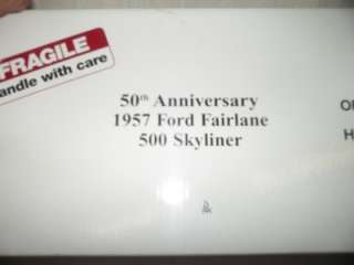 DANBURY MINT 1957 50TH ANNIVERSARY FORD FAIRLANE 500 SKYLINER 1/24