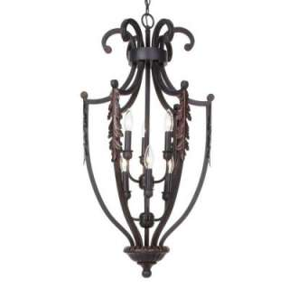 Hampton Bay 6 Light Hanging Rust/Gold Pendant HD356495 at The Home
