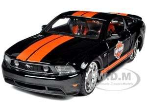 2011 FORD MUSTANG GT HARLEY DAVIDSON BLACK ORANGE STRIPES 1/24 BY
