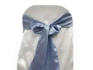 100 x SATIN CHAIR SASH wedding party favor supply wholesale   27