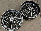 RUFF RACING 947 22 BLACK RIMS WHEELS MAXIMA STAGGERED / 22 X 9.0/10