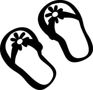 Flip Flop Beach Sandals Vinyl Wall Art Decal Decor