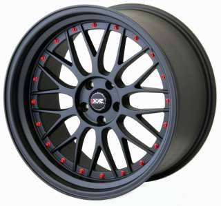 XXR 521 20 ET32 5X114.3 ALLOYS MATT BLACK + RED Z1075
