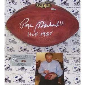 Roger Staubach Hand Signed Official NFL Football Sports