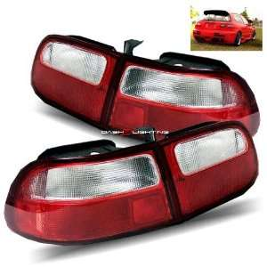 92 95 Honda Civic 3Dr Tail Lights   JDM Red Clear