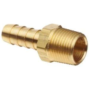 BN33 Brass Hose Fitting, Insert, 3/8 NPTF Male, 3/8 Hose ID Barbed